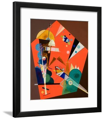 Tension in Red-Wassily Kandinsky-Framed Art Print