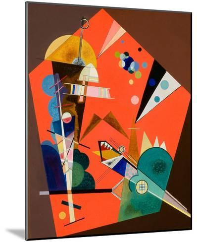 Tension in Red-Wassily Kandinsky-Mounted Art Print