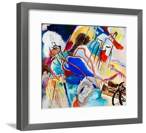 Improvisation No. 30 - Cannons (1913)-Wassily Kandinsky-Framed Art Print