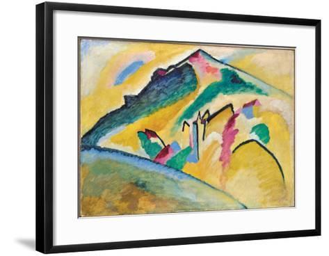 Herbstlandschaft (1911)-Wassily Kandinsky-Framed Art Print