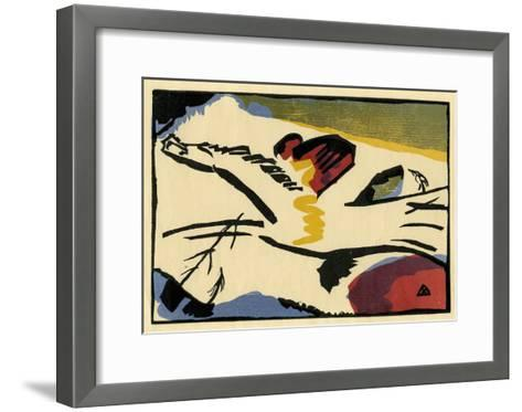 Lyrisches Presse (1911)-Wassily Kandinsky-Framed Art Print