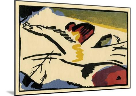 Lyrisches Presse (1911)-Wassily Kandinsky-Mounted Art Print