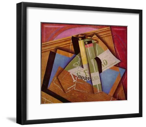 Still Life with Bordeaux Bottles, 1919-Juan Gris-Framed Art Print