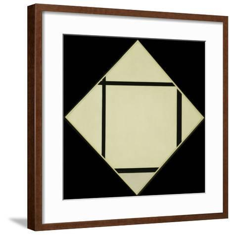 Tableau I - Lozenge with Four Lines and Gray, 1926-Piet Mondrian-Framed Art Print