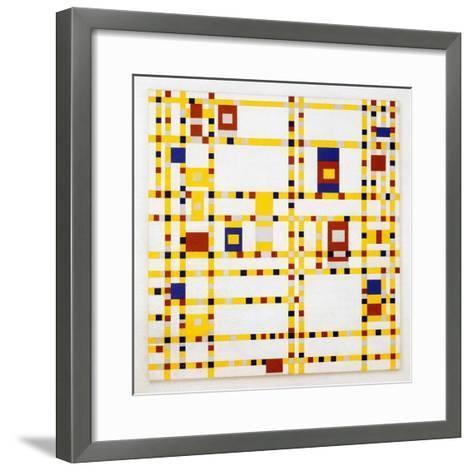 Broadway Boogie Woogie. 1942-43-Piet Mondrian-Framed Art Print