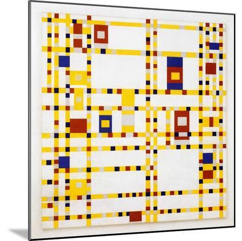 Broadway Boogie Woogie. 1942-43-Piet Mondrian-Mounted Art Print