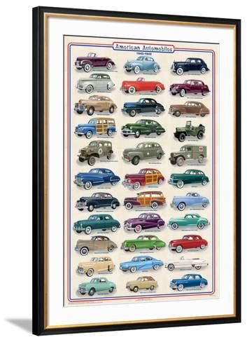 American Autos of 1940-1949--Framed Art Print