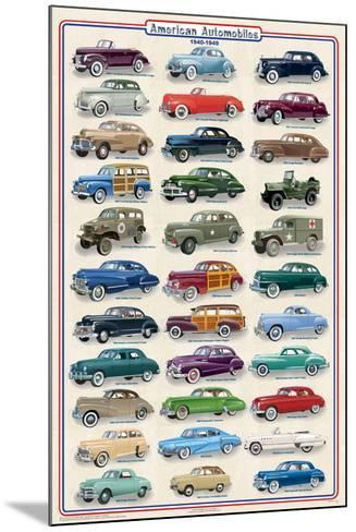 American Autos of 1940-1949--Mounted Poster