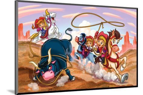 Girl Power - Cowgirls--Mounted Art Print
