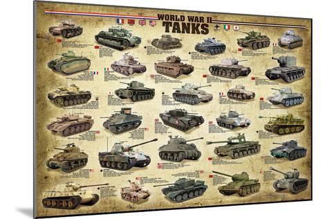 WWII Tanks--Mounted Art Print