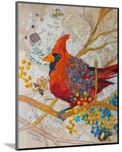 Cardinal On White--Mounted Art Print