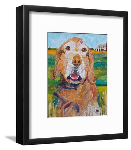 Here Boy!--Framed Art Print