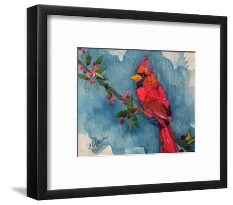 Winter Cardinal--Framed Art Print