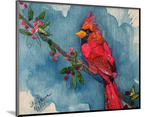 Winter Cardinal--Mounted Art Print