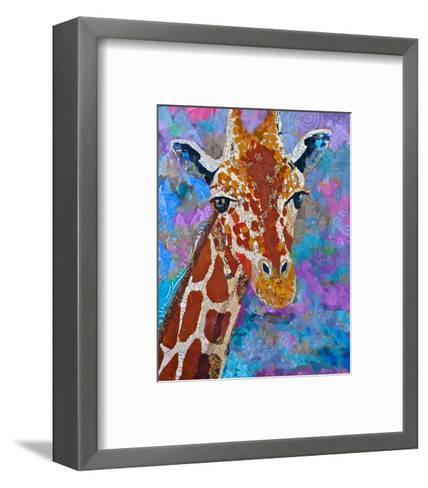 Giraffe Retouched--Framed Art Print
