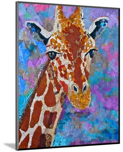 Giraffe Retouched--Mounted Art Print