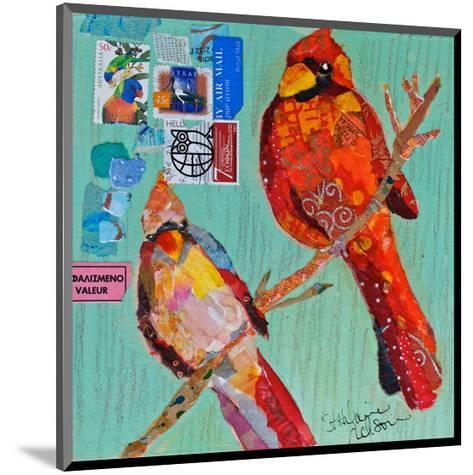 Lovebirds Cardinals--Mounted Art Print