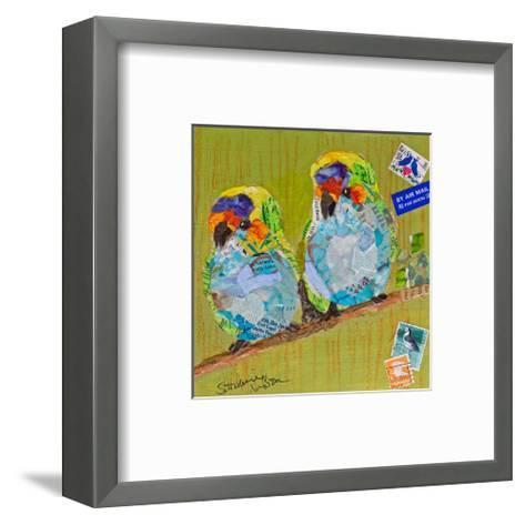Lovebirds--Framed Art Print