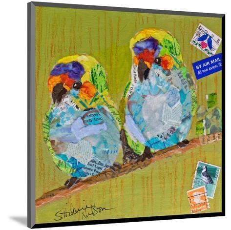 Lovebirds--Mounted Art Print