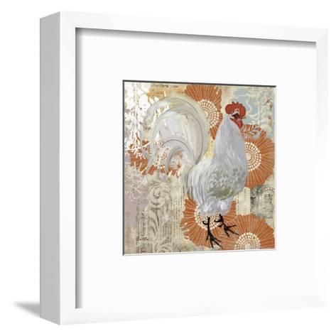 White Rooster--Framed Art Print