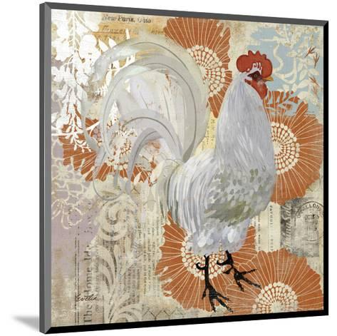 White Rooster--Mounted Art Print