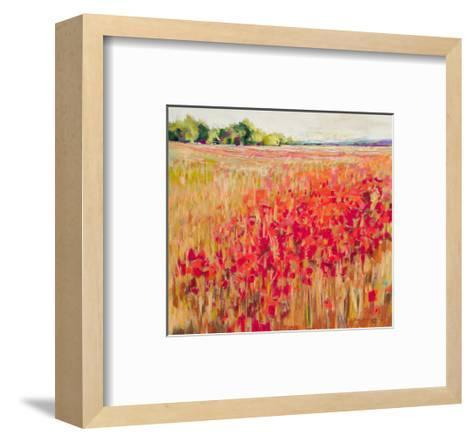 Poppies And Trees VIII--Framed Art Print