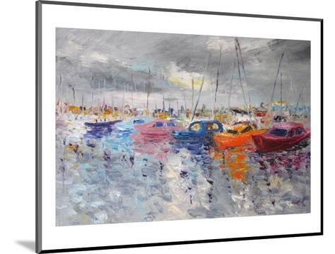 Cloudy Sea Port--Mounted Art Print