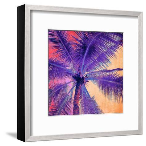 Palm Tree Sunset--Framed Art Print