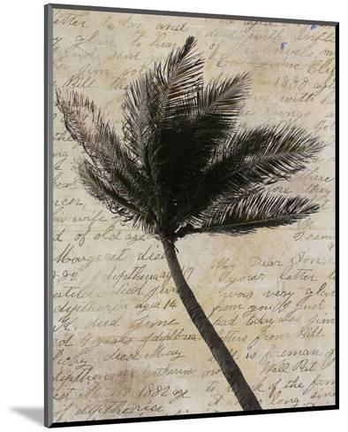Palm Silhouette--Mounted Art Print