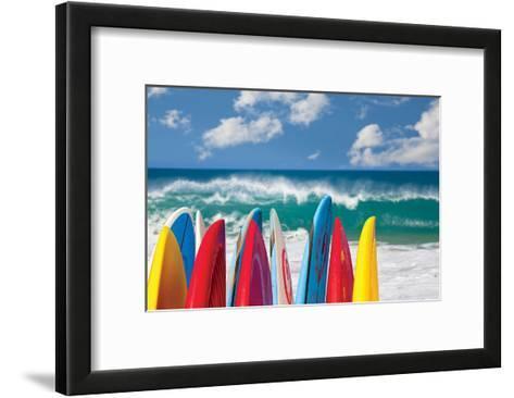 Board in Maui II--Framed Art Print