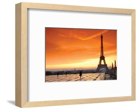 Paris at Dawn--Framed Art Print