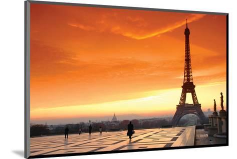 Paris at Dawn--Mounted Art Print
