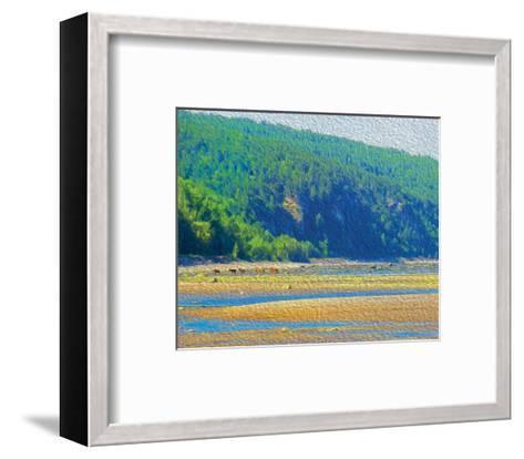 Coastal Horses-SM Design-Framed Art Print