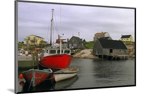 Peggy's Cove Harbour--Mounted Art Print