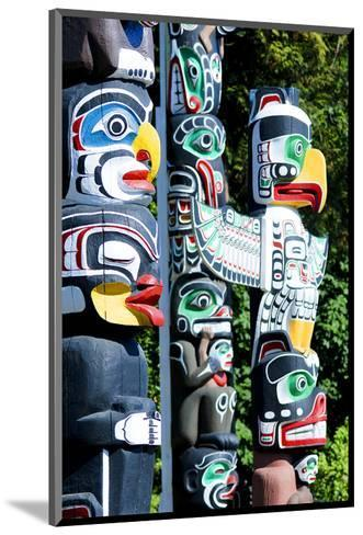 Stanley Park Totem Poles--Mounted Art Print
