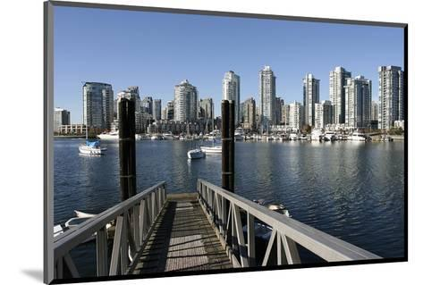 Vancouver from GranvilleIsland--Mounted Art Print