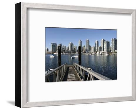 Vancouver from GranvilleIsland--Framed Art Print