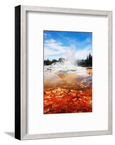 Castle Geyser Yellowstone Park--Framed Art Print