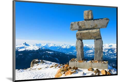Inukshuk at Whistler Mountain--Mounted Art Print