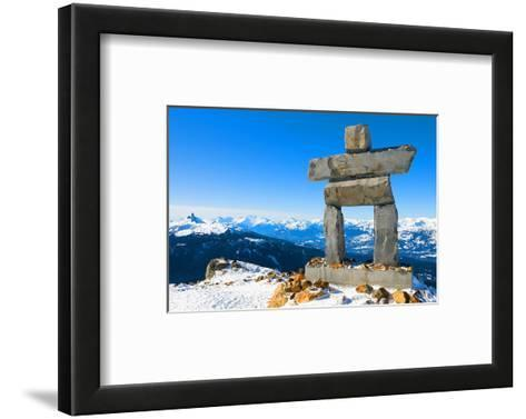 Inukshuk at Whistler Mountain--Framed Art Print