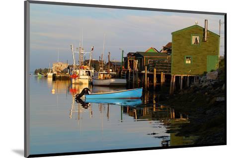 Fishing boats at dock--Mounted Art Print