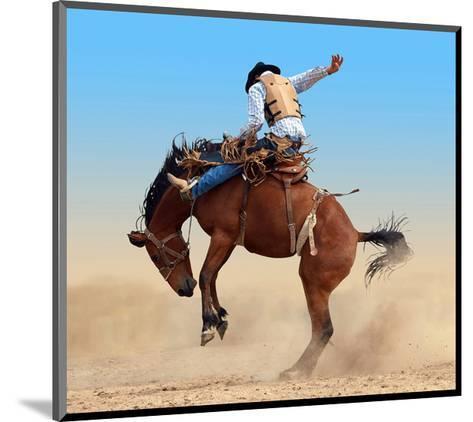 Bucking Rodeo Horse--Mounted Art Print
