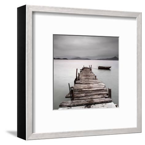 Pier And Boat II--Framed Art Print