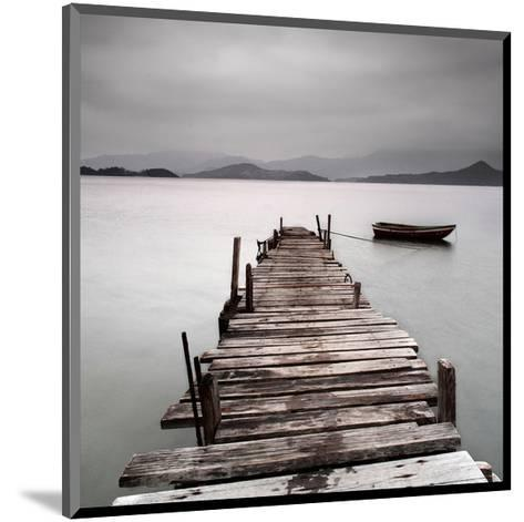 Pier And Boat II--Mounted Art Print