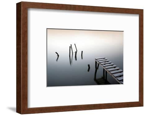 Pier & Wooden Docks Morning--Framed Art Print