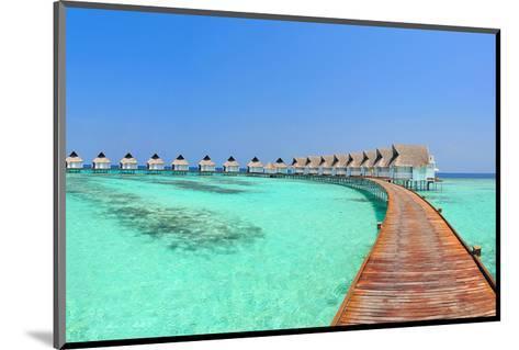 Maldive Water Villa Panorama--Mounted Art Print