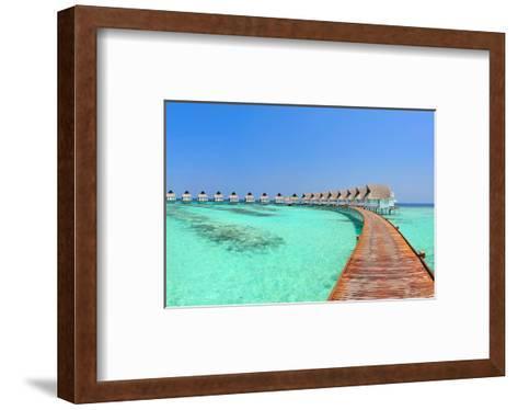 Maldive Water Villa Panorama--Framed Art Print