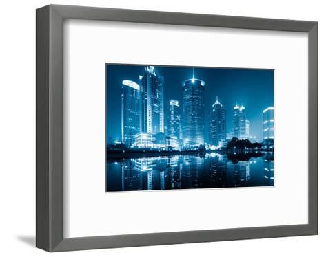 Lujiazui Finance Ctr. Shanghai--Framed Art Print