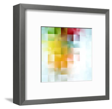 Colorful Abstract Shapes--Framed Art Print