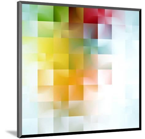 Colorful Abstract Shapes--Mounted Art Print